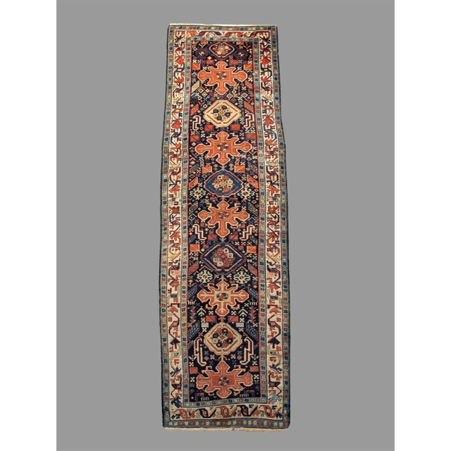 Traditional Trans Caucasian Rug - 3′5″ × 11′1″ For Sale - Image 3 of 3