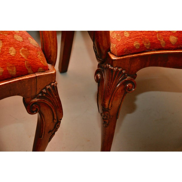 Antique Queen Anne Mahogany Dining Chairs - A Pair - Image 7 of 7