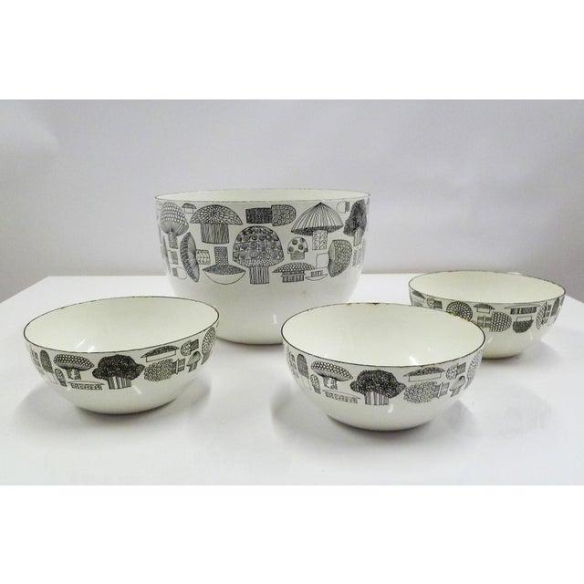 FinelMushrooms by Kaj Franck Set of Enamel Bowls, Arabia Finland 1960s For Sale - Image 12 of 12