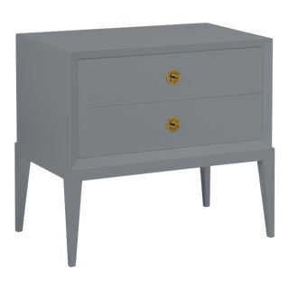 Casa Cosima Hayes 2-Drawer Side Chest, Dior Gray For Sale
