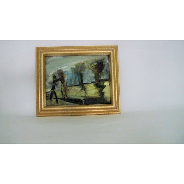 Figures & Trees Impressionistic Oil Painting - Image 2 of 5