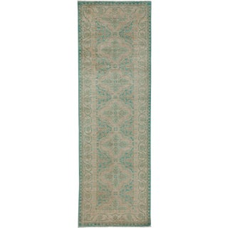 """Oushak Hand-Knotted Runner - 3'3"""" x 10'1"""" For Sale"""