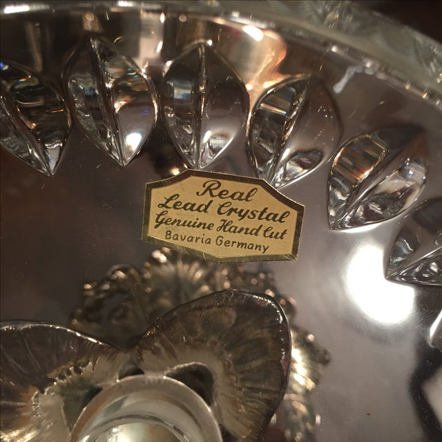 Reed & Barton Silver-Plate Epergne Crystal Liners - Image 6 of 7