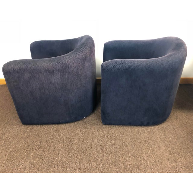 1990s Vladimir Kagan for Preview Biomorphic Freeform Armchairs - a Pair For Sale In Detroit - Image 6 of 8
