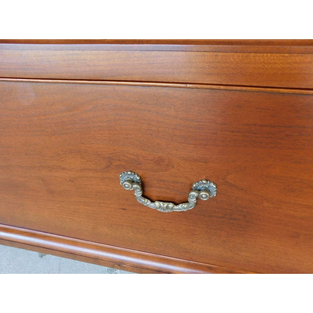 """Stickley Colonial Williamsburg Cherry Chippendale Style 2 Door Bookcase """"A"""" For Sale - Image 12 of 13"""