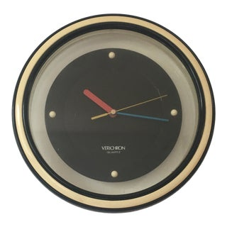 1980s Post Modern Wall Clock For Sale