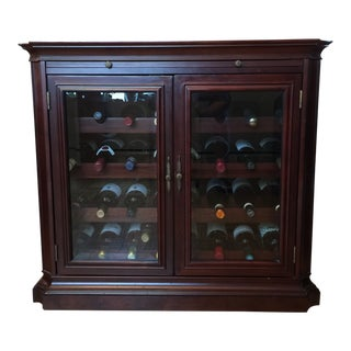 Traditional Two Door Wine Cabinet With Shelf For Sale
