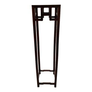1970s Asian Wood Pedestal For Sale