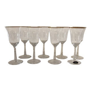 """Lenox """"Fontaine"""" Crystal Wine Glasses - Set of 8 For Sale"""