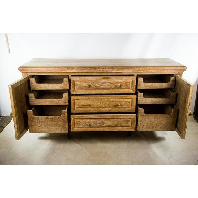 Custom Solid Teak Modern Long Dresser For Sale - Image 4 of 11