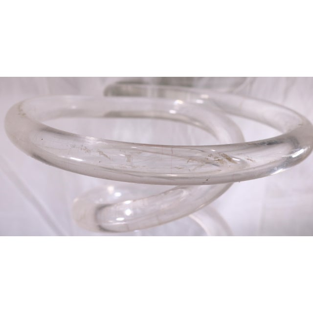 Plastic 1970s Dorothy Thorpe Lucite Spiral Spring Umbrella Stand For Sale - Image 7 of 8