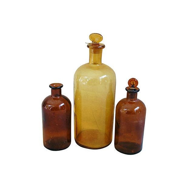Antique French Apothecary Bottles - Set of 3 - Image 3 of 3