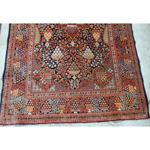 Tan 1880s, Handmade Antique Persian Dabir Kashan Rug 4.1' X 6.2' For Sale - Image 8 of 12