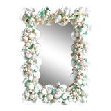 Image of Contemporary Coastal Custom Shell and Sea Glass Mirror For Sale