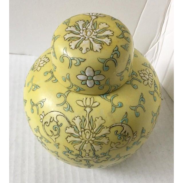 Pretty Little Yellow Hong Kong Ginger Jar - Image 3 of 7