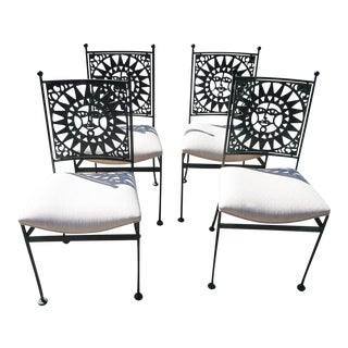 "1960s Arthur Umanoff ""Mayan"" Dining Chairs - Set of 4 For Sale"