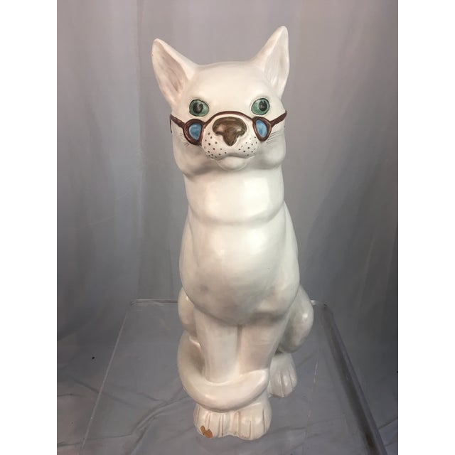 Vintage Italian Cat Figuirne For Sale In Charleston - Image 6 of 8
