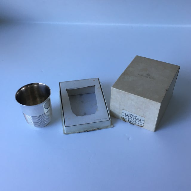 Christofle Silver Plated Babe Tumbler Cup For Sale - Image 11 of 11