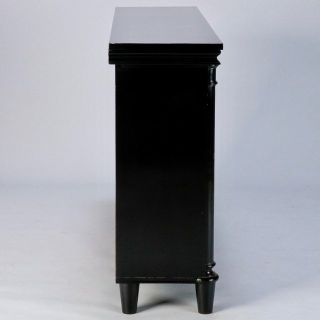 Ebonised English Sideboard With Brass Grills For Sale In Detroit - Image 6 of 10