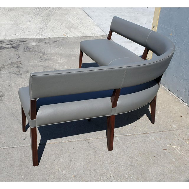 New Custom Made Constantini Curved Bruno Bench For Sale - Image 9 of 11
