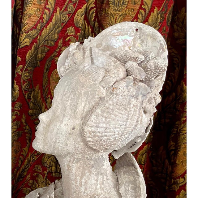 "Shell 1990s ""Sea Queen"" Woman Bust Sea Shell Sculpture #3 For Sale - Image 7 of 11"