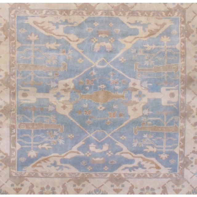 2010s Pasargad N Y Oushak Wool Rug - 8′8″ × 9′9″ For Sale - Image 5 of 8