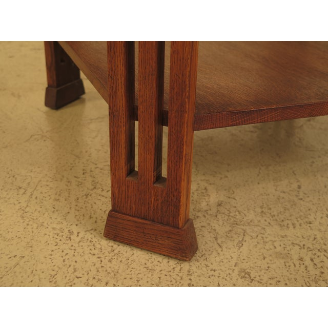 Stickley Arts & Crafts Oak Square Occasional Table - Image 6 of 8