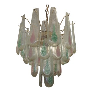 1960's Murano Style Glass Chandelier