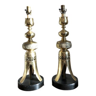 James Mont Style Lamps - a Pair For Sale