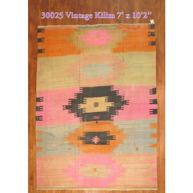 Vintage Kilim Rug - 7' X 10'2'' - Image 2 of 8