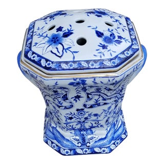 Classic Blue and White Porcelain Flower Holder For Sale
