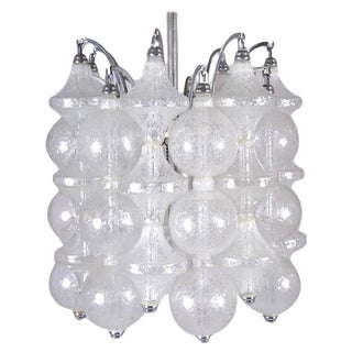 Tulipan Kalmar Chandelier, Austria, Circa 1960s For Sale