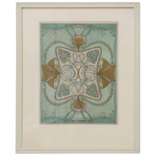 Vintage Framed Decorative Wallpaper Print For Sale