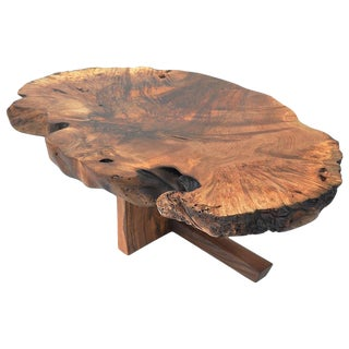 Unique Caucasian Walnut Table, Signed by Jörg Pietschmann For Sale
