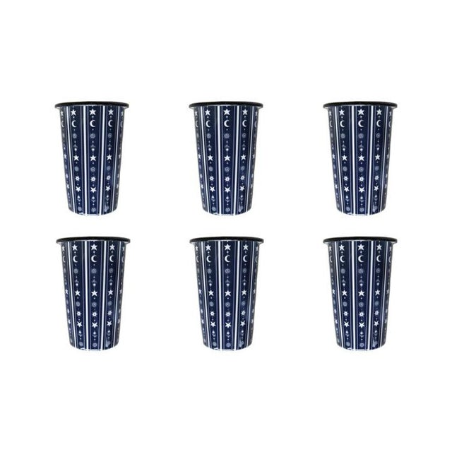 Stargazer Tumblers Set of 6 For Sale - Image 4 of 4