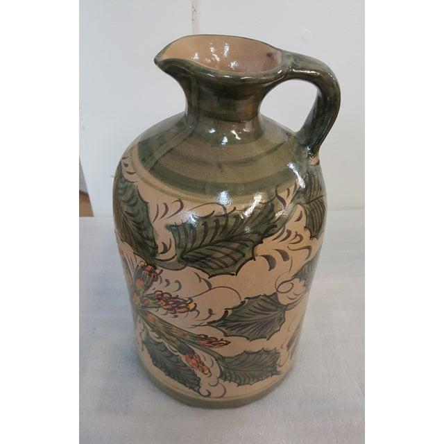 Sarreid Ltd. Sarreid Leaves and Asparagus Ceramic Painted Pitcher For Sale - Image 4 of 8