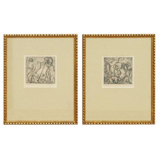 Pair of Native American Etchings by Frederick Monhoff