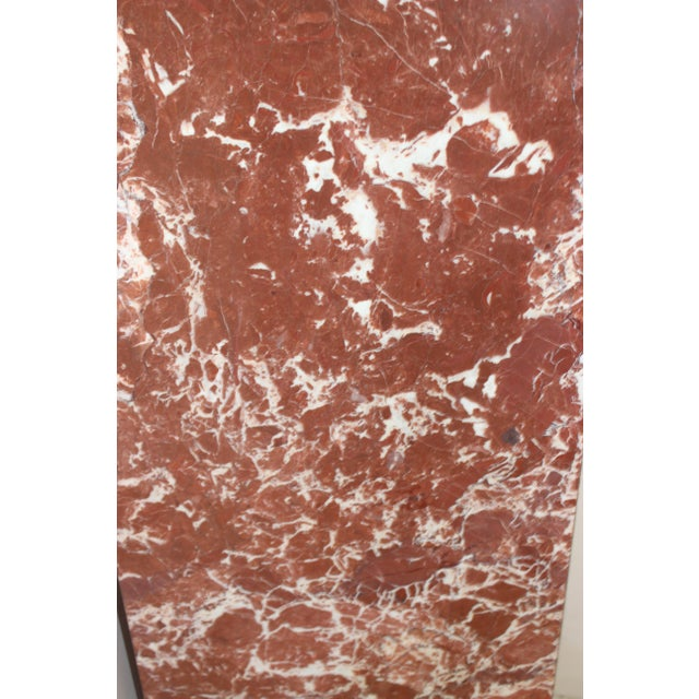Rouge Marble Pedestal For Sale In West Palm - Image 6 of 11