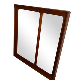 Askel Kjensgaard Large Danish Teak Storage Mirror For Sale