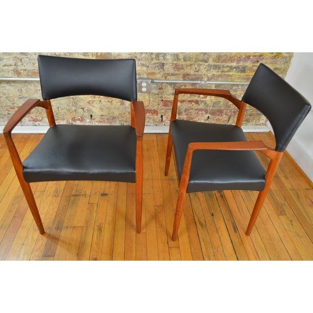 Ejner Larsen & Aksel Bender Madsen for Willy Beck Danish Teak Dining Chairs- Set of 6 - Image 7 of 7