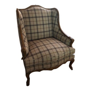 Guy Chaddock French Country Bergere Chair For Sale