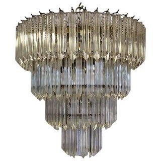 1960's Lucite Cascading Chandelier For Sale