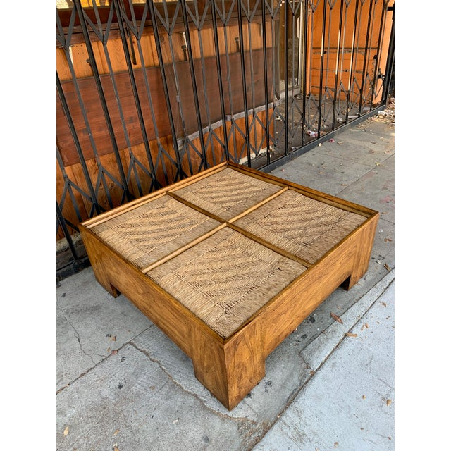 1960s Mid Century Modern Drexel Heritage Wood Briar Coffee Table For Sale - Image 11 of 13