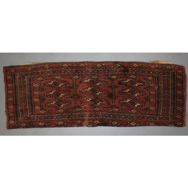A very beautiful antique Turkaman rug, hand knotted in 1800's. with100% wool, dyed with pigment from the vegetable . This...