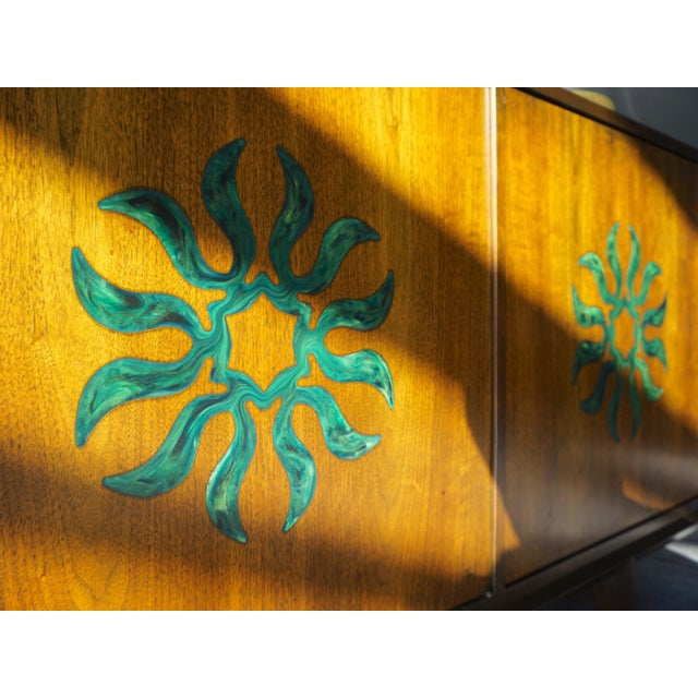 Cal Mode Resin & Walnut Credenza - Image 3 of 5