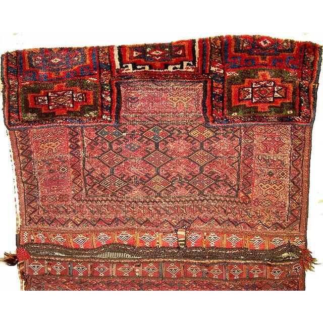 Old Persian Bakhtiari Soumak Khorjin Saddle Bag - Image 4 of 10