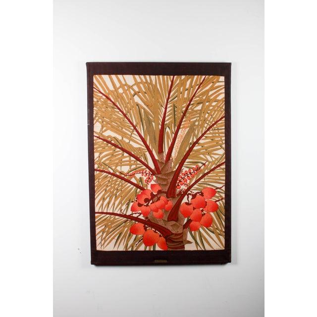 """Vipula Dharmawardena (Sri Lankan) """"King Coconut"""" Batik For Sale - Image 10 of 10"""