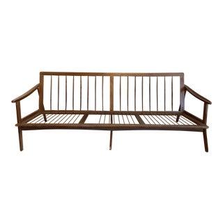 Vintage Mid Century Modern Walnut Sofa Frame For Sale