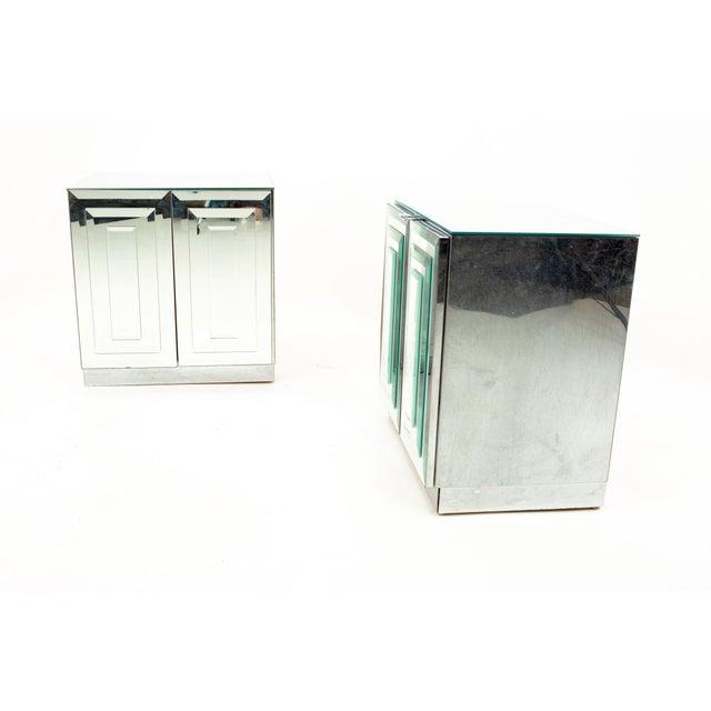 "Mid-Century Modern Ello Mirrored Mid Century ""Skyscraper"" Nightstand - Pair For Sale - Image 3 of 13"