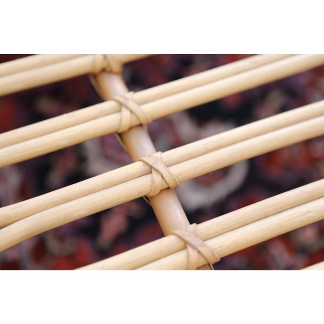 Gabriella Crespi Style Rattan & Bamboo Pencil Reed Coffee Table - Image 7 of 10